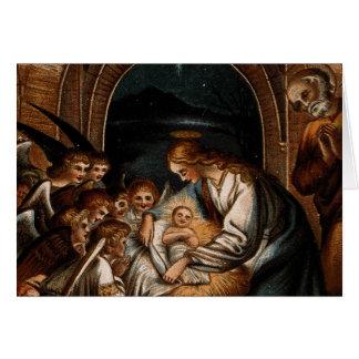 Cartão Ucha dos anjos de Jesus do bebê da Virgem Maria da