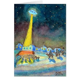 Cartão UFO do Natal