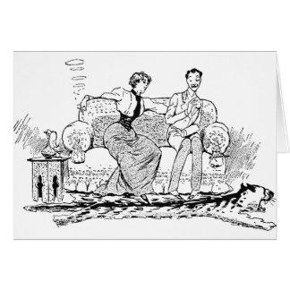 Cartão Um fumo da mulher