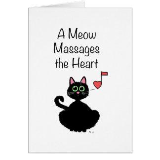 Cartão Um Meow faz massagens o coração