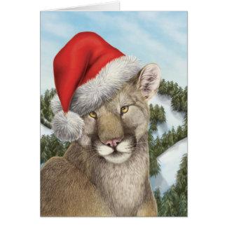 Cartão Um Natal da costa oeste: Puma