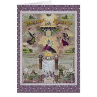 Cartão Um registro maçónico