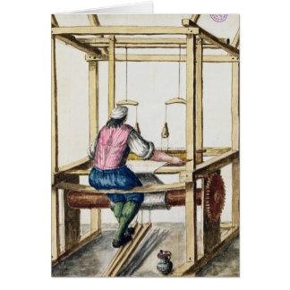 Cartão Um tecelão Venetian