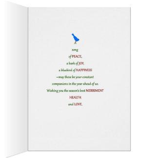 Cartão Uma canção da paz, latido da alegria