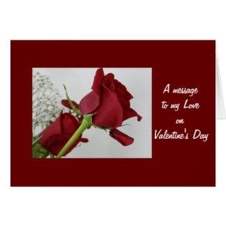 Cartão Uma mensagem a meu amor no dia dos namorados