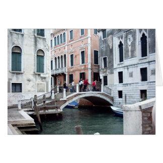 Cartão Uma ponte Venetian