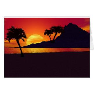 Cartão Uma silhueta tropical