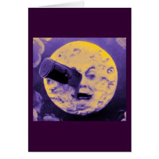 Cartão Uma viagem à lua (poeira de papel efervescente