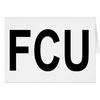 Cartão Unidade dos verificadores do fato do FCU