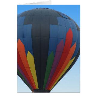 Cartão Uplifting do balão de ar quente