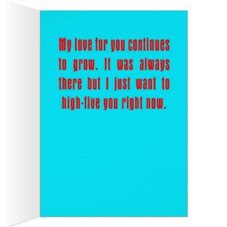 Cartão Urso cinco alto