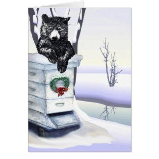 Cartão Urso com colmeia