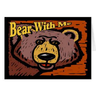 Cartão Urso comigo