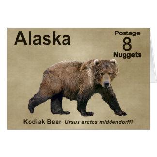 Cartão Urso de Kodiak