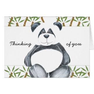 Cartão Urso de panda bonito