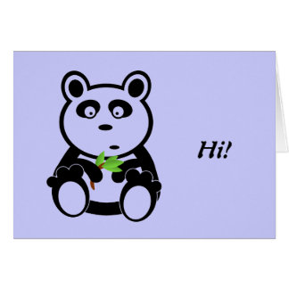 Cartão Urso de panda do amor