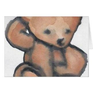 Cartão Urso de ursinho que Pondering o material do
