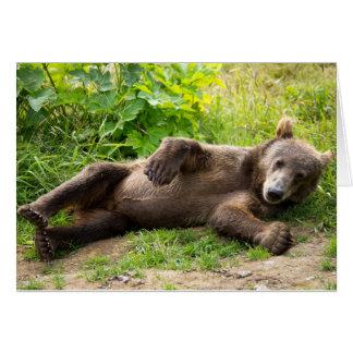 Cartão Urso descontraído