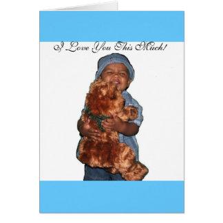 Cartão Urso do bebê