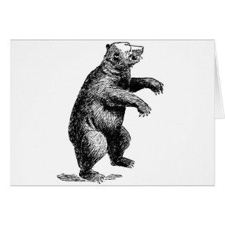 Cartão Urso ereto