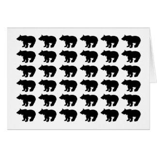 Cartão ursos