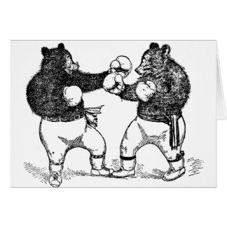 Cartão Ursos de encaixotamento