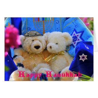 Cartão Ursos felizes de Hanukkah