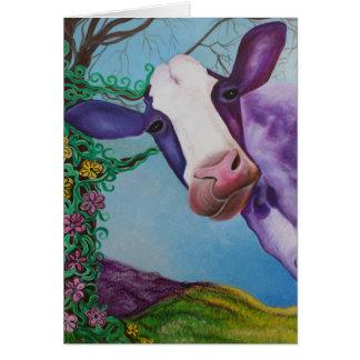 Cartão Vaca roxa