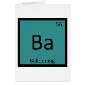 Cartão Vagabundos - mesa periódica Ballooning da química