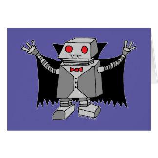 Cartão Vampiro do robô