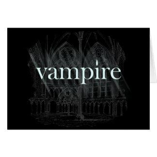 Cartão Vampiro gótico
