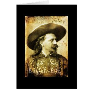 Cartão Vaqueiro vestido poço de Buffalo Bill