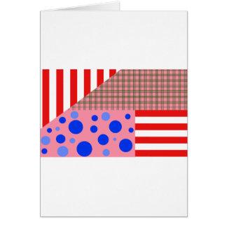 Cartão variedade de padrões