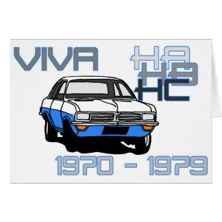 Cartão Vauxhall Viva HC