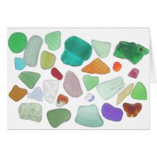 Cartão vazio da variedade de vidro do mar