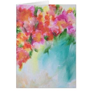 Cartão vazio floral abstrato