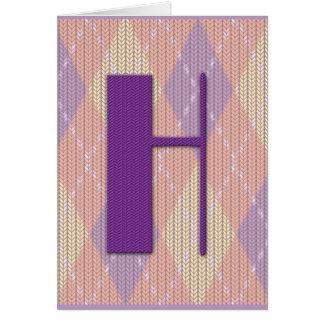 Cartão (vazio) - H inicial