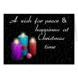 Cartão Velas do Natal