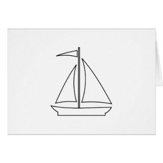 Cartão veleiro