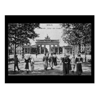 Cartão velho, Berlim, Linden do antro de Unter Cartão Postal
