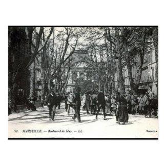 Cartão velho - Bulevar de Muy, Marselha Cartão Postal
