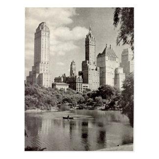 Cartão velho - Central Park, Nova Iorque Cartão Postal