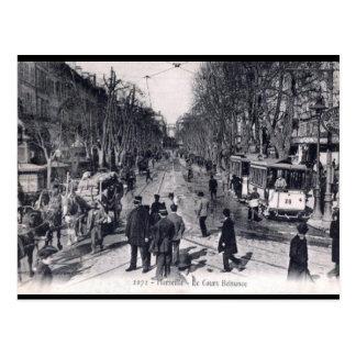 Cartão velho - Cours Belsunce, Marselha Cartão Postal