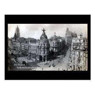 Cartão velho - Madrid Cartão Postal