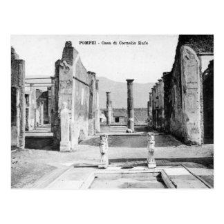 Cartão velho - Pompeia, Casa di Cornelio Rufo Cartão Postal