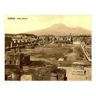 Cartão velho - Pompeia, o fórum