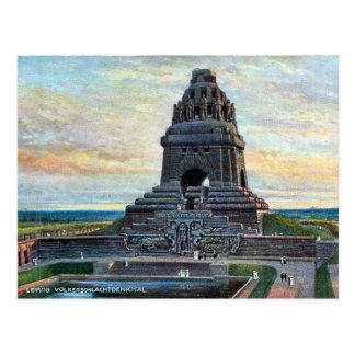 Cartão velho - Völkerschlachtdenkmal, Leipzig Cartão Postal