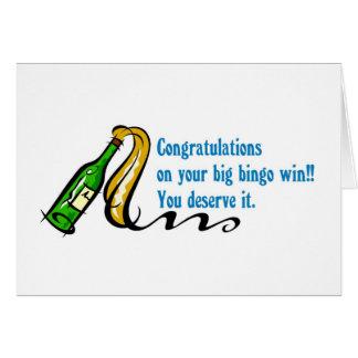 Cartão Vencedor do bingo dos parabéns