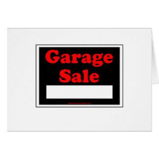 Cartão Venda de garagem