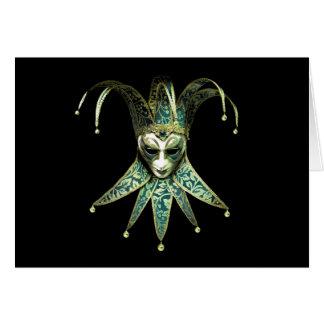 Cartão Venetian da máscara do palhaço